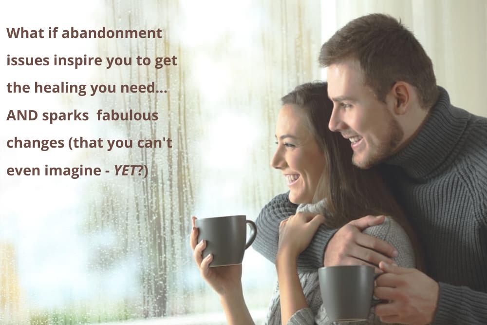 couple with coffee at rainy window pane