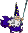 Cartoon Illustration of Wizard